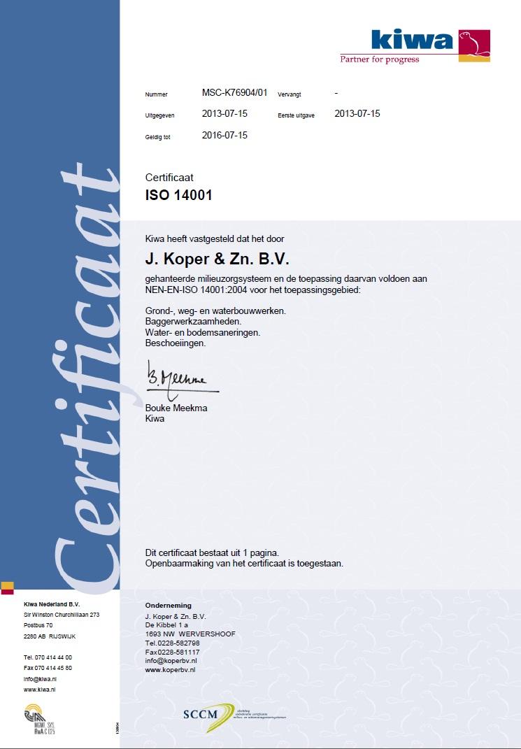 ISO 14001:2004 certificering