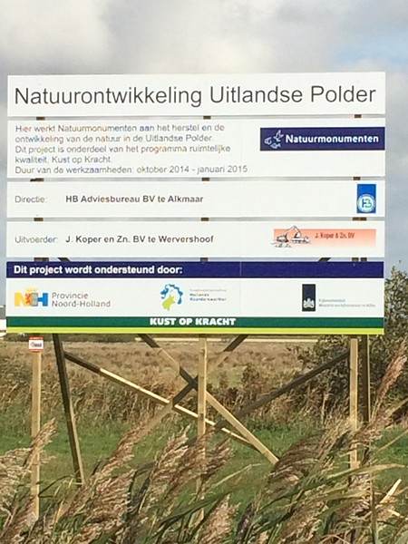 Start Natuurontwikkeling Uitlandse Polder